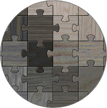 Wooden Jigsaw (Overlapped)