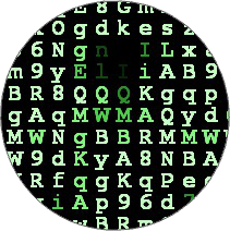 Matrix Letters / Green